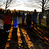 JIM VAIKNORAS/Staff photo Members of the Union Congregational Church hold celebrate Easter with a sunrise service Sunday morning at Alliance Park in Amesbury.