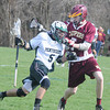 JIM VAIKNORAS/Staff photo   Pentucket's Nick Zaia makes a move on Newburyport's Jeffrey martin during their game at Pipstave Hill in West Newbury.