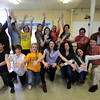 JIM VAIKNORAS/Staff photo The cast of Godspell rehearse at the First Religious Society Parish Hall Saturday.