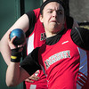 Amesbury: Amesbury shot putter Brandon Doucette. Bryan Eaton/Staff Photo