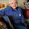 BRYAN EATON/ Staff Photo. Retired Amesbury School system teacher Gladys Turnquist is turning 100 years-old this week.