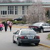 BRYAN EATON/ Staff Photo. Police were on the scene at Pentucket High School as the school was locked down for a time.