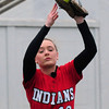 BRYAN EATON/ Staff Photo. Amesbury's Samantha Stone makes the catch on a Mascoment pop fly.