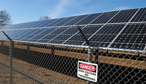 Salisbury: A small section of the solar park on Rabbit Road in Salisbury. Bryan Eaton/Staff Photo