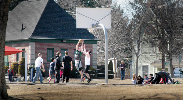Amesbury: Thursday's nice weather brought scores of people out to Amesbury Town Park after school got out. The weekend looks good too with rain ending early Saturday morning. Bryan Eaton/Staff Photo