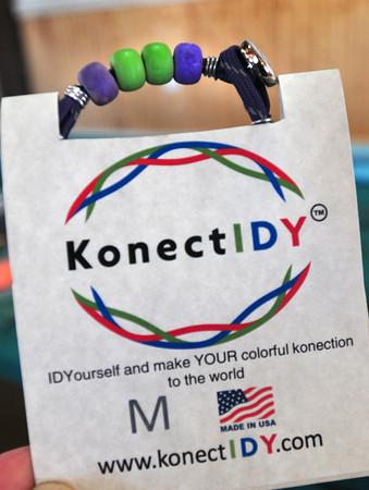 Newbury: KonectIDY bracelet. Bryan Eaton/Staff Photo