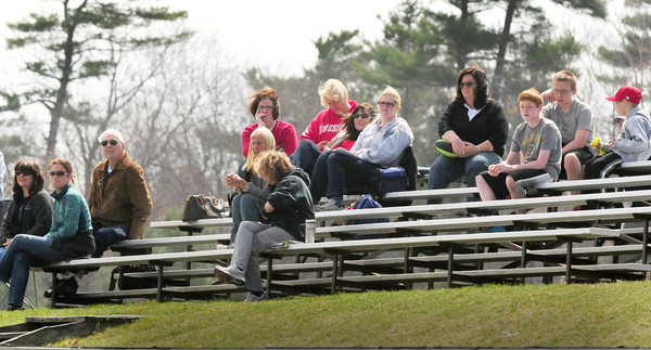 BRYAN EATON/ Staff Photo. Spectators to the Pentucket at Amesbury High baseball game were treated to nice weather yesterday morning.