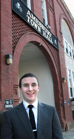 BRYAN EATON/Staff Photo. Amesbury mayor Ken Gray's aide Evan Kenney.