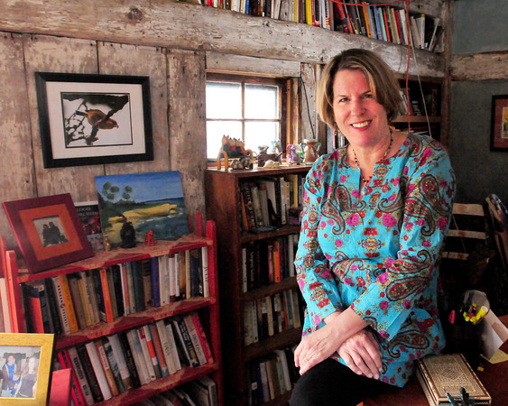 Rowley: Author Holly Robinson often writes from her barn behind her Rowley home. Bryan Eaton/Staff Photo