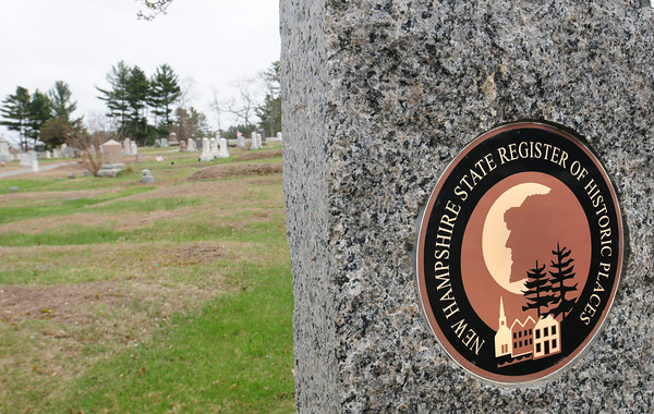 BRYAN EATON/ Staff Photo. Historical marker at the entrance of the  Smithtown/Methodist/Hillside Cemetery in Seabrook.