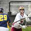 BRYAN EATON/ Staff Photo. Newburyport's Matthew Kelleher runs into some Lynnfield defense.