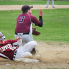 BRYAN EATON/ Staff Photo. Newburyport's Chance Carpenter steals third base against Rockport.