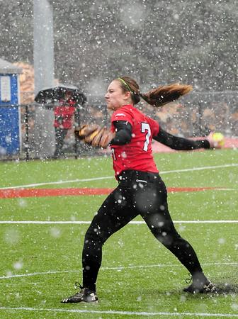BRYAN EATON/Staff Photo. Amesbury pitcher Haley Catania.