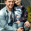BRYAN EATON/Staff Photo. Jordan Sandman with his son, Maddox, 7, at his West Newbury home.