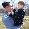 BRYAN EATON/Staff Photo. Maddox, 7, goofs with his dad Jordan Sandman.