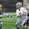BRYAN EATON/Staff Photo. Newburyport's Paul Federico gets pressure from North Reading.