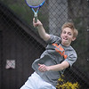BRYAN EATON/Staff Photo. Ipswich first doubles player Jesse Cullen.