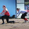 BRYAN EATON/Staff Photo. Triton High softball team practice on Wednesday afternoon.
