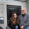"BRYAN EATON/Staff Photo. Johanna Schwartz, a Newburyport native, is debuting her film, ""They Will Have to Kill Us First"" next week the Screening Room, shown with co-owner Andrew Mungo."