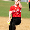 JIM VAIKNORAS/Staff photo Amesbury pitcher Hayley Catania against Georgetown at Amesbury.