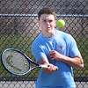 BRYAN EATON/Staff Photo. Triton's Drew Lapham in second doubles.