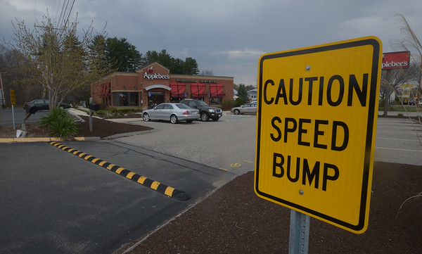 JIM VAIKNORAS/Staff photo Speed bump between Applebee's and Staples on Route 1 in Seabroodk.
