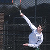 BRYAN EATON/Staff Photo. Manchester-Essex first singles Dewey Komishane.