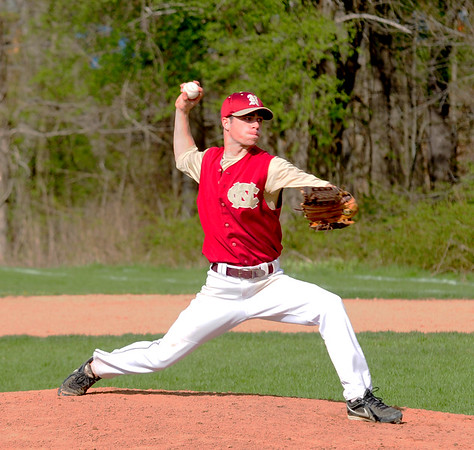 JIM VAIKNORAS/Staff photo Newburyport pitcher Jude Habib against Georgetown at Georgetown Thursday afternoon.