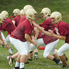 Newburyport: Newburyport High School football team started practice yesterday at the Nock Middle School field. Bryan Eaton/Staff Photo