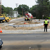 Newburyport: The new roundabout at the end of Merrimac Street in Newburyport at Spofford Street and Moseley Avenue is finally taking shape as curbing was put in Monday making it look like its name. Work still has to be done on the feeder streets before it's finally complete. Bryan Eaton/Staff Photo