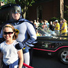 Newburyport: Mia Yim, 9, of Newburyport has her photo taken with Batman in front of the Batmobile. Bryan Eaton/Staff Photo