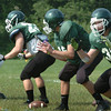 West Newburyport: Pentucket's defensive line goes through some drills. Bryan Eaton/Staff Photo