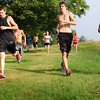 Amesbury: Amesbury High cross country team run back and forth after their main run at Woodsom Farm. Bryan Eaton/Staff Photo