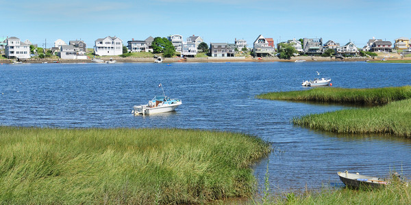 Newburyport: Flood insurance rates on Plum Island, including the Basin, pictured here, because of new maps delineating the flood area. Bryan Eaton/Staff Photo