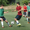 Newburyport: Newburyport High's boys soccer team practices at Cherry Hill Field. Bryan Eaton/Staff Photo