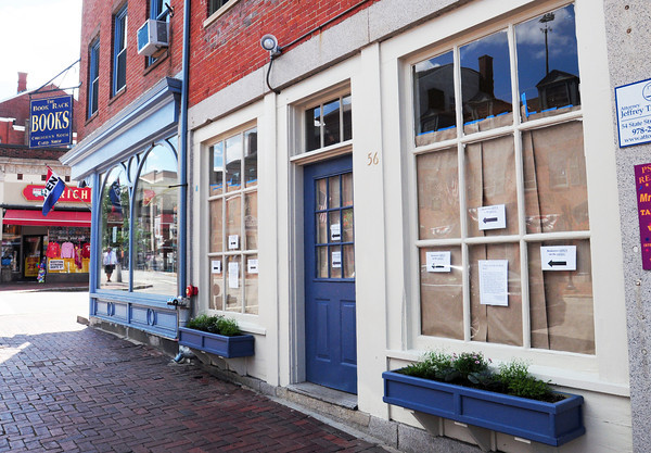 Newburyport: The Book Rack is downsizing its retail operations into the children's room at the corner of State and Pleasant Street in Newburyport and creating the Atomic Cafe in the old space. Bryan Eaton/Staff Photo