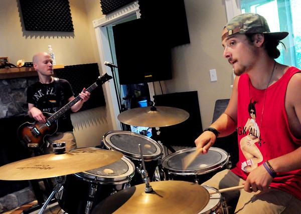 Amesbury: Brew members Joe Plante, left,  and Aaron Zaroulis. Bryan Eaton/Staff Photo