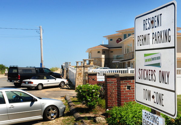 Seabrook: Resident permit parking at Seabrook Beach is enforced from Memorial Day until September 15. Bryan Eaton/Staff Photo