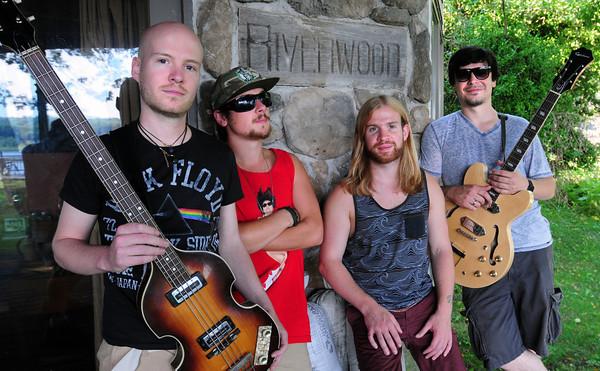 Amesbury: Brew members from left, Joe Plante, Aaron Zaroulis, Chris Plante and Dave Drouin. Bryan Eaton/Staff Photo