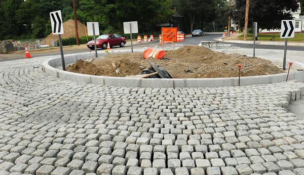 Newburyport: The new roundabout at the end of Merrimac Street in Newburyport. Bryan Eaton/Staff Photo