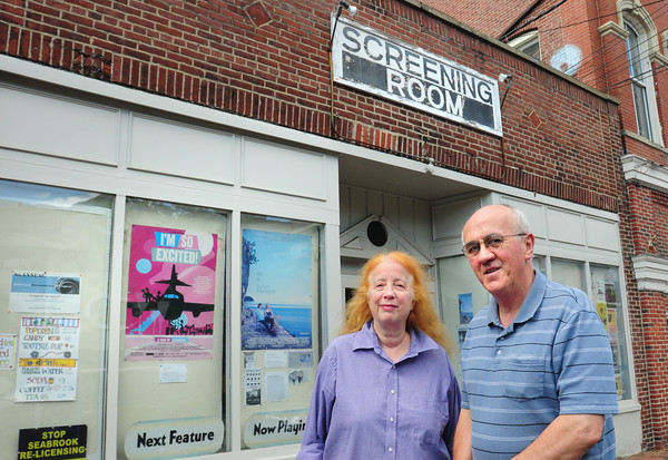 Newburyport: Co-proprietors of the Screening Room in Newburyport are holding a fundraiser to purchase a digital projector. Bryan Eaton/Staff Photo