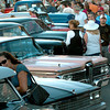 Newburyport: Crowds check out old cars lined up on Pleasant Street. Bryan Eaton/Staff Photo