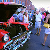 Newburyport: People check out a '57 Chevy Bel Air on State Street. Bryan Eaton/Staff Photo