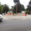 Newburyport: The rotary at the west end of Merrimac Street in Newburyport is now engaged in the new traffic pattern. Bryan Eaton/Staff Photo