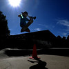 Newburyport: Chris O'Donnell, 11,  catches some air at the Newburyport Skate Park Saturday afternoon. Jim Vaiknoras/staff photo
