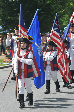 Newburyport: The Nutmeg Volunteer Fife and Drum Corp of Groton Conn. march in the Yankee Homecoming Parade Sunday.Jim Vaiknoras/staff photo