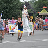 Newburyport: With jugglers and clowns leading the way, the Theater in the Open wins Best in Show in the Yankee Homecoming Lions Club Bed Race on Federal Street Thursday night. Jim Vaiknoras/staff photo
