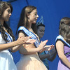Seabrook: 2013 Miss Seabrook Shannon O'Hara, on the far left with her court, on the right: Leslie Orozco, Kaylee Junkentrunk and 2012 Miss Seabook Kerri Sears ,not shown 1st runner up Haley Kenyon at Old Home Day at the Walton School in Seabrook Saturday. Jim Vaiknoras/staff photo