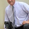 newburyport: Newburyport Baseball Alumni Association person of the year Rob Daigle and his dog Diamond. Jim Vaiknoras/staff photo
