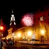 Newburyport: The Yankee Homecoming fireworks explode over Pleasent Street. Jim Vaiknoras/staff photo